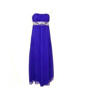 JS Boutique Sz 4 Dress Fit Flare Strapless Sequin